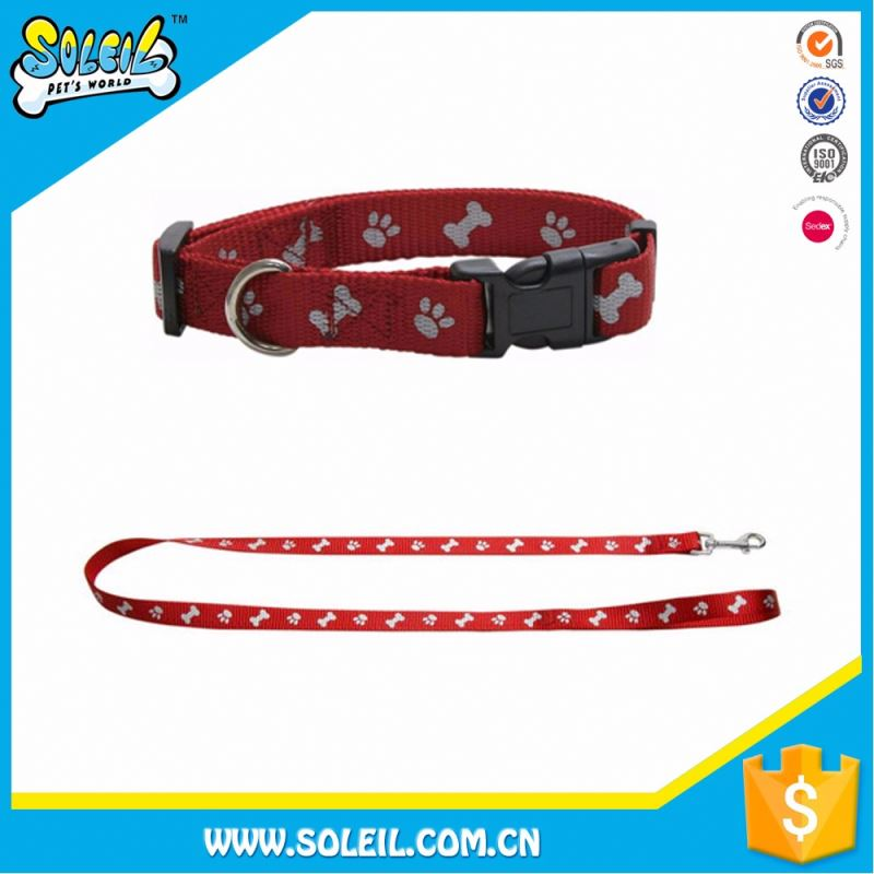 Quick Lead Red Nylon Dog In Collar