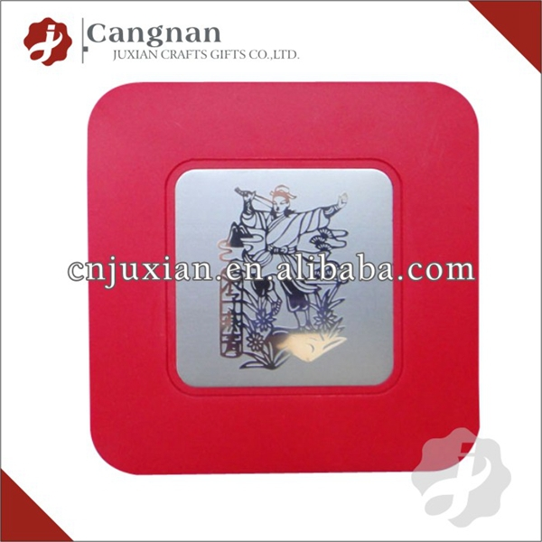 promotion clear plastic acrylic photo coaster