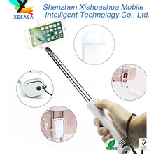 2017 New flexible wired monopod selfie stick with mirror