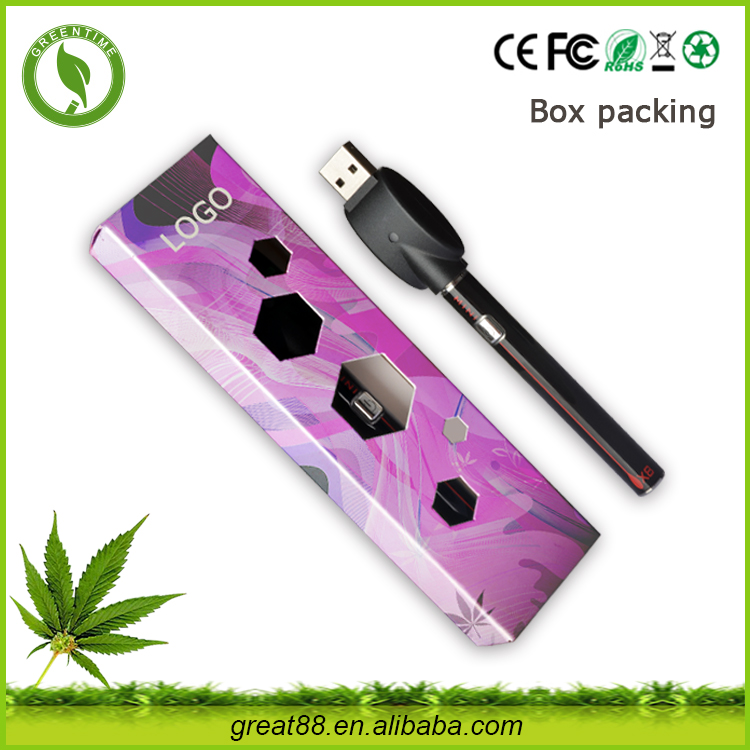 Greentime Voltage Adjustable Cbd Battery Rechargeable 510 Thread Pen Vape For Thick Oil Cartridge cbd crystal
