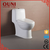 ON-823 High end one piece siphonic white ceramic toilet chaozhou sanitaryware