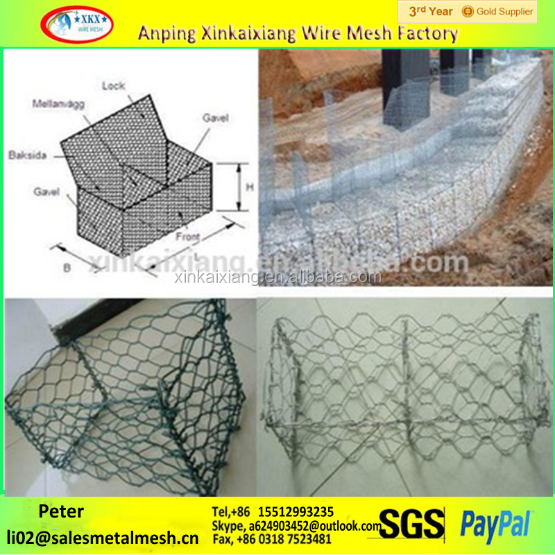 best supply wire basket rock retaining wall welded stone cage for gabions