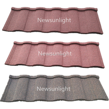 China roof tile stone coated corrugated steel roof tile