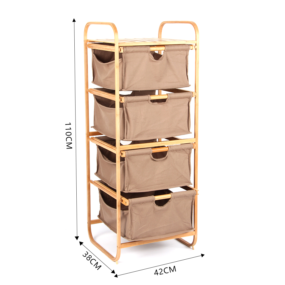 Laundry Hamper Bamboo Square Wicker Clothes Bin Basket Tall Storage Organizer