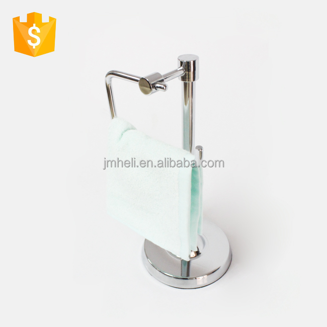 Luxury bathroom design accessories table metal towel rack