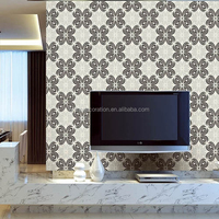 Elegant floral non-woven wallpaper for TV background