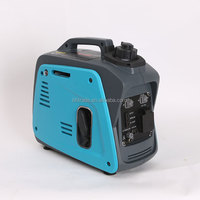 800 watt small portable gasoline inverter generator, quiet and silent gasoline generator, DC 12V, AC single phase output type