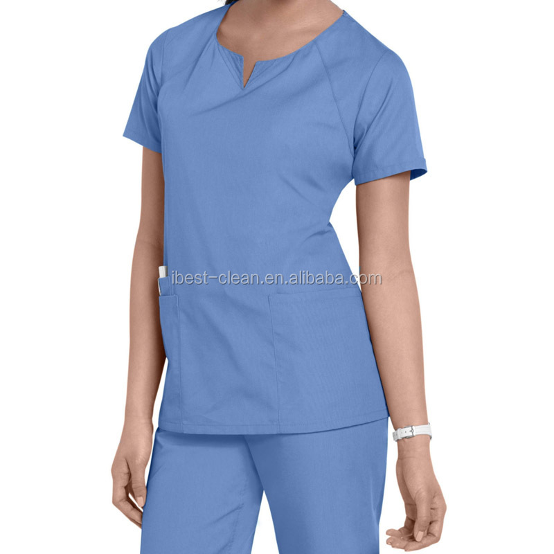 Fashioned Medical Scrub Uniform or Nurse Uniform