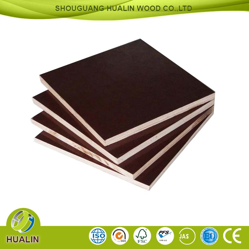 Shandong two times hot press film face plywood