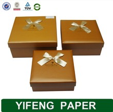 Eco-friendly customized hot sale corrugated brown brownie packaging box