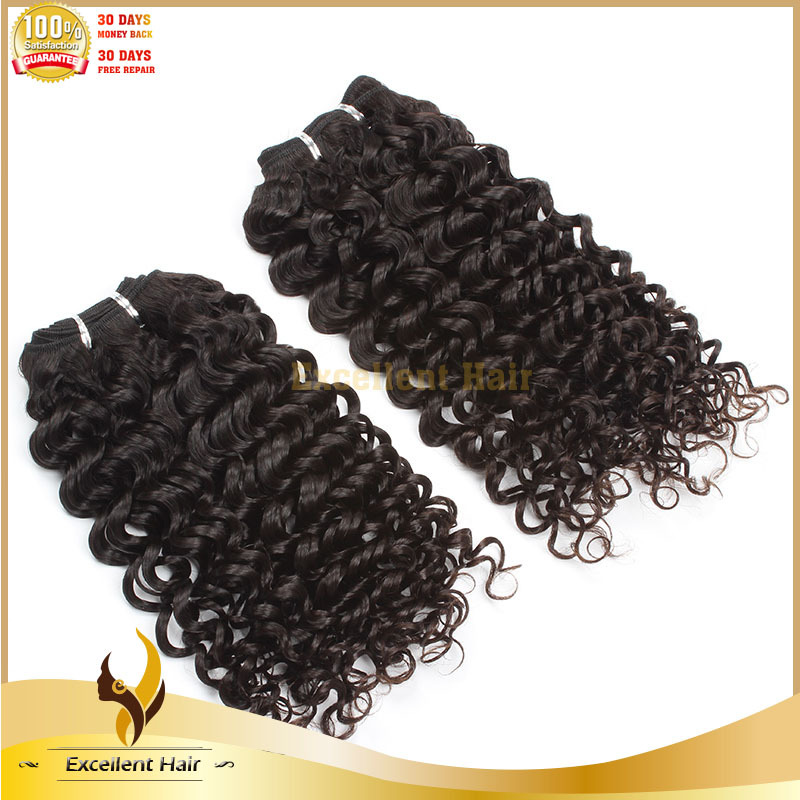Fashion 2014 Weave Natural Black Women Remy Human Curly Brazilian Virgin Expression Hair Extensions