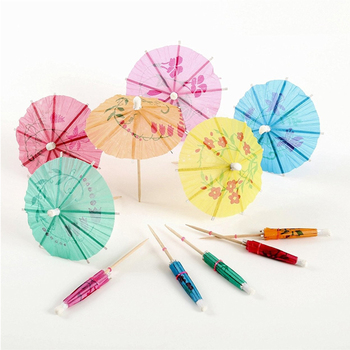 Umbrella Toothpicks wooden fruit skewers