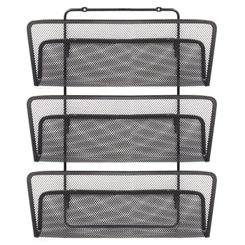 Wholesale 3 Lever Metal Wire Mesh Wall mounted Office File Rack