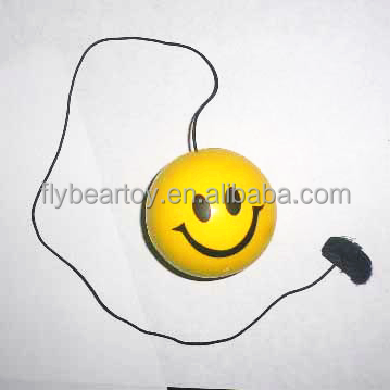 Jumping PU ball Smiling face PU stress ball