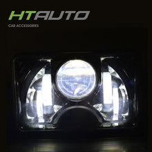 HTAUTO 55W 4x6 Led Headlight Dot for Truck Driving Light Waterproof Led Work Light