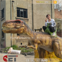 CET-N739 Cetnology Animatronic remote control life size T-Rex resin dinosaur model Ride for playground
