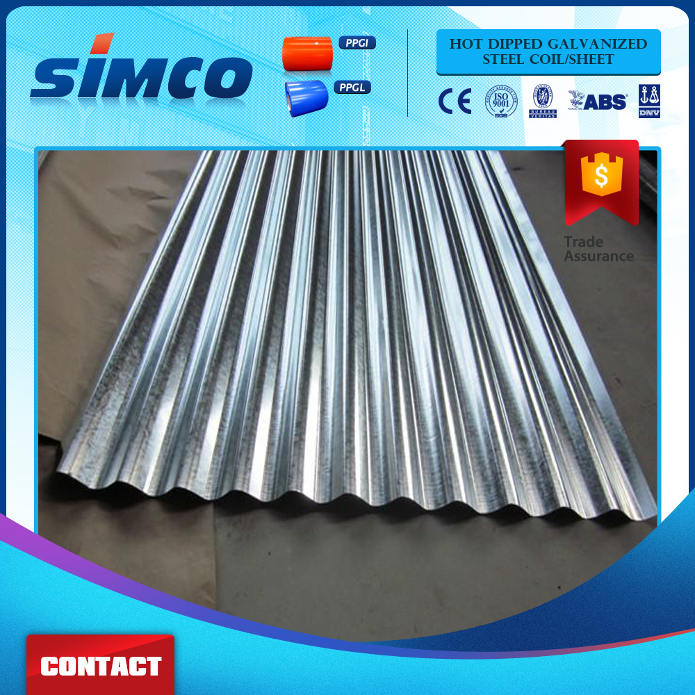 Wall Decoration Use Zinc Aluminized Iron Corrugated Roofing Steel Sheet Supplier