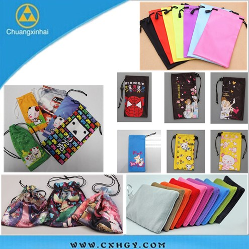 Customized color phone pouch for Lady/Women/Female