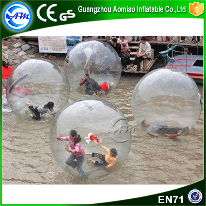 Clear color TPU water bouncing ball / crystal ball water fountain / walking water ball pool
