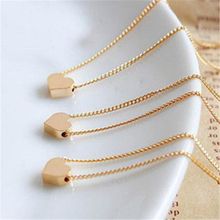 Fashion Gold Chain <strong>Necklace</strong> Jewelry Dainty Tiny Charm Women Heart Shaped Choker Pendant <strong>Necklace</strong>