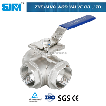 Sanitary High Purity Stainless Steel Full Port 3-Way Ball Valve