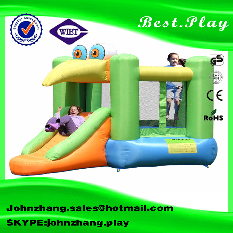 outdoor bird bouncer inflatable indoor trampoline with slide inflatable bouncer combo for kids