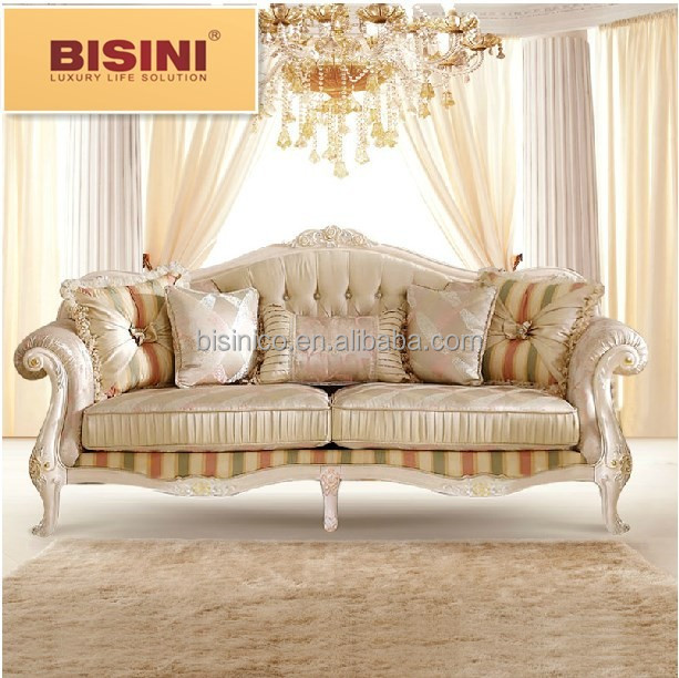 French Romantic Fresh Feel Fabric Sofa Set