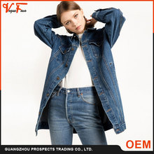 China Factory fashion ladies coat long sleeve denim women jeans jacket