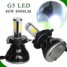 2017 High quality 40W 4000LM H1 H3 H4 H7 H13 9007 G5 L6 factory led headlight for all cars headlight restoration kit