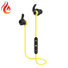 Hottest Volume Control Hands Free Music Sport Wireless Earbud Bluetooth Earphone With Mic for mobile phone Pad