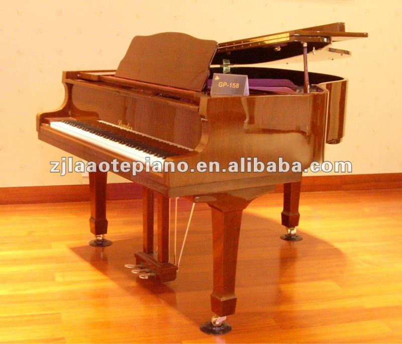 AC-170B black polished baby grand piano WITH GERMAN hammer and strings