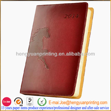 Promotion leather cover agenda 2013 with printing inner page