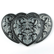 Wholesale fashion connection type heart shaped belt buckle