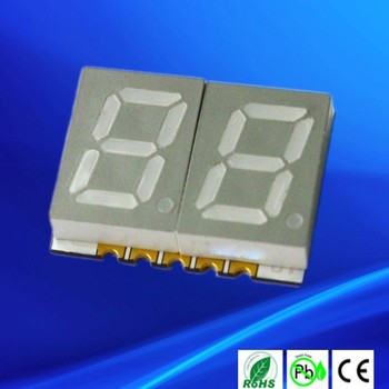 Direct Drive Common Anode / cathode dual digit 7-segment smd led display