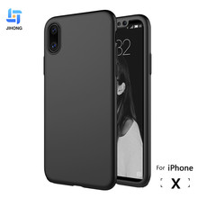 For iPhone X Case With Screen Protector 3 in 1 Ultra Slim Luxury PC Hard Phone Back Cover For Apple iPhone X Case