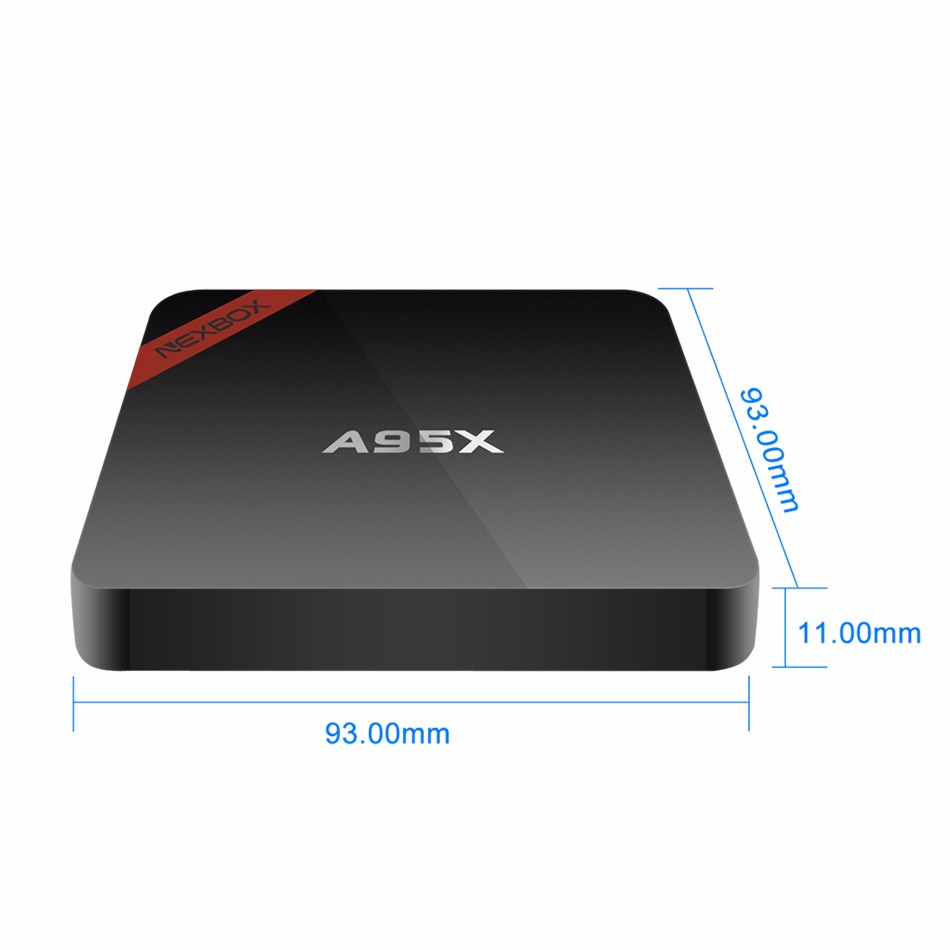 New NEXBOX A95X Cheap S905X Android 6.0 Marshmallow TV Box 1GB 8G 4K Full HD Media Player Fully Loaded Smart TV Box