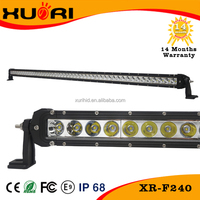 Wholesale price 52inch 240W one row led lightbar 240w offroad led bar light high power slim light bar for trucks jeep car
