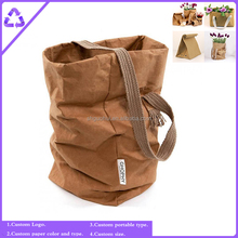Custom Waterproof Paper Bags, High Quality Washable Kraft Paper Bag wholesale