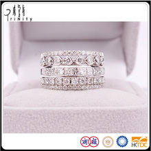 Hot 18K White Gold Au 750 Luxurious Diamond Rings