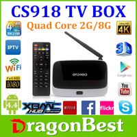 full hd 1080p android iptv box cs918 global iptv set top box CS918 quad core android iptv box cs918