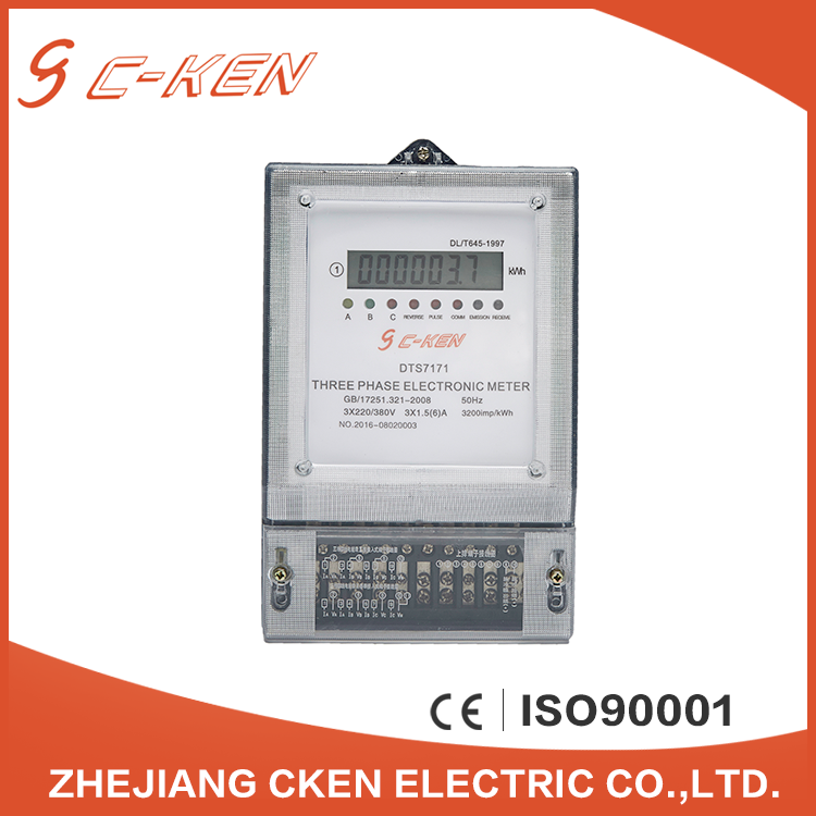 Cken Proffesional Factory Display Type Ultrasonic Heat Three Phase Smart Electronic Energy Meter