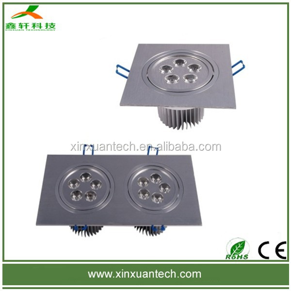 High quality 5w 10w 15w square led down recessed light aluminum ceiling lamps