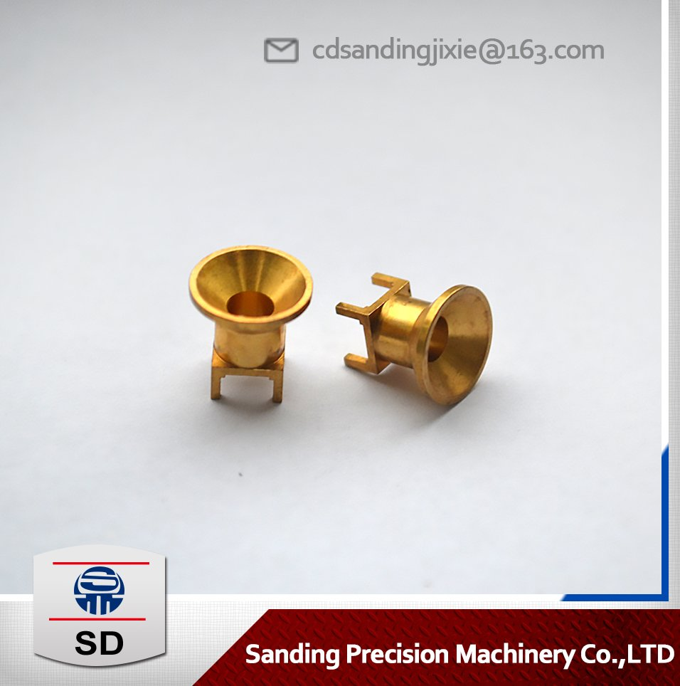 Precision brass CNC machining car parts, aviation connector parts manufacturers