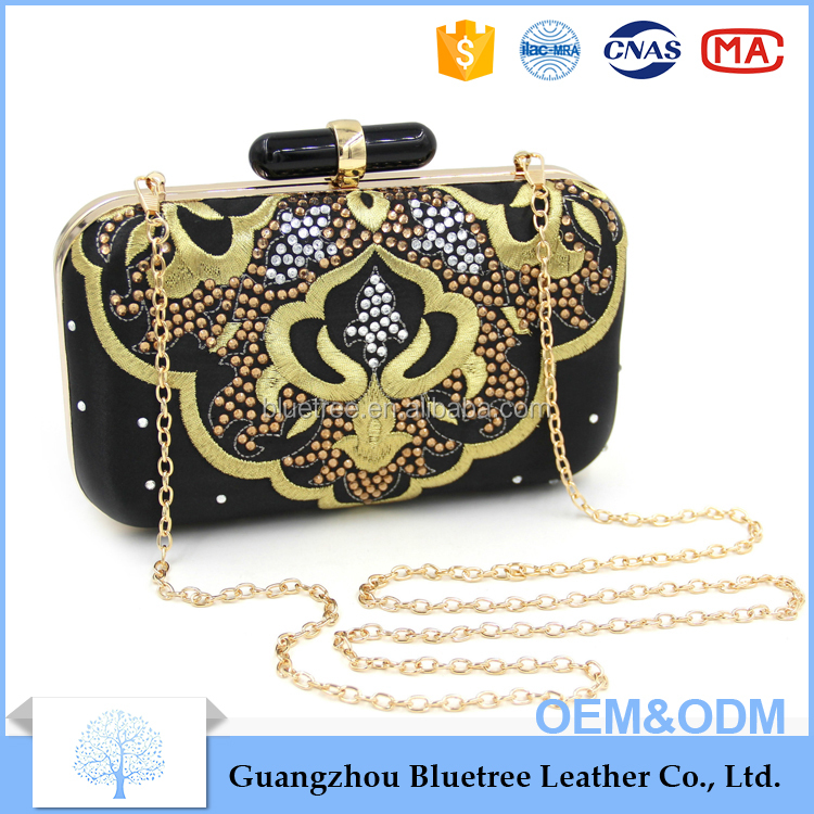 OEM custom clutch bag wholesale ladies clutch bag Chinese Embroidered clutch bag
