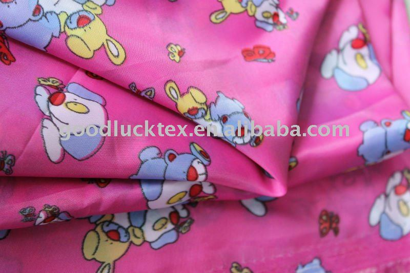 60gsm 190T printed taffeta lining fabric use for garments/bags/colthing