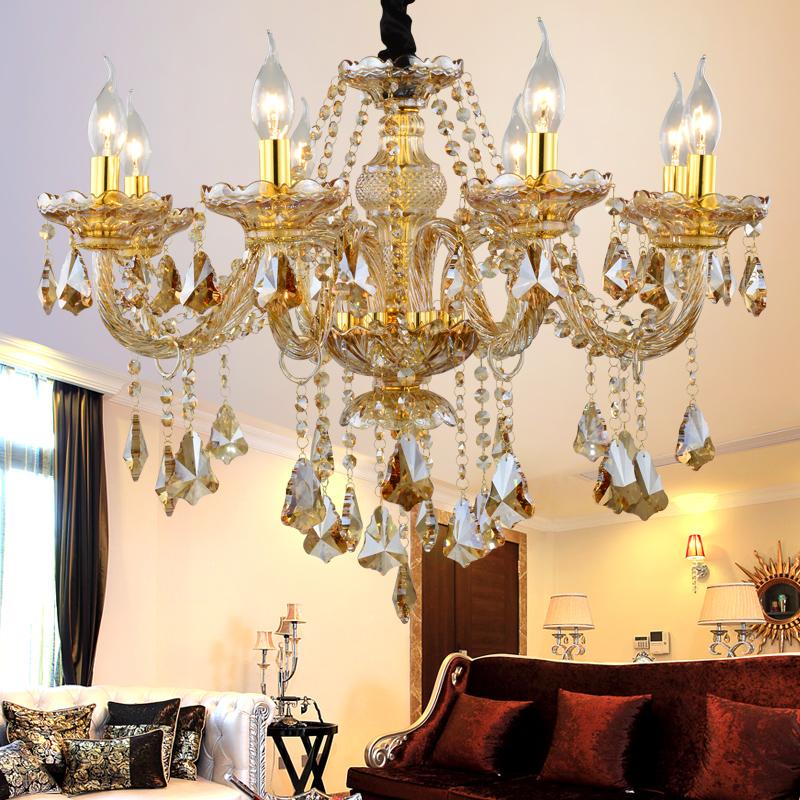 China Wholesale Gold Crystal Chandelier Light Lustre Led Cristal Pendente  Lampe