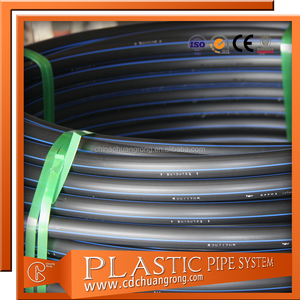 4 Inch Heavy Duty HDPE Irrigation Hose Rolls Pipe