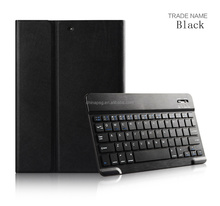 Hot selling High-end Bluetooth Keyboard PU Leather Case For iPad Air1/2