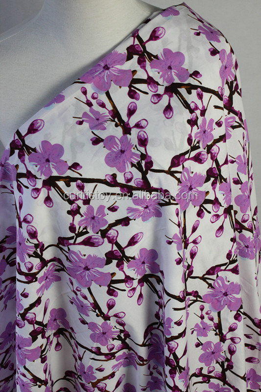 hot sale alibaba <strong>cotton</strong> material factory sale elasticity purple flower <strong>cotton</strong> and polyester Textiles Products printed fabric