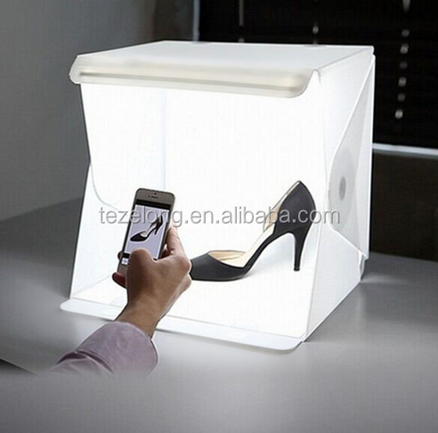 Portable Mini Photograph Folding Photo Studio 40*40*40cm LED Light Box Soft Box Tent taking a picture for socks